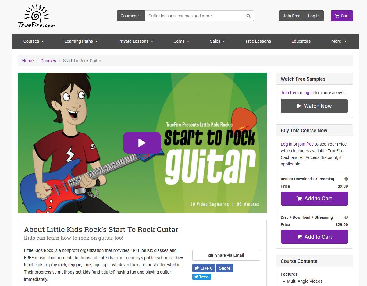 Little Kids Rock TrueFire Course