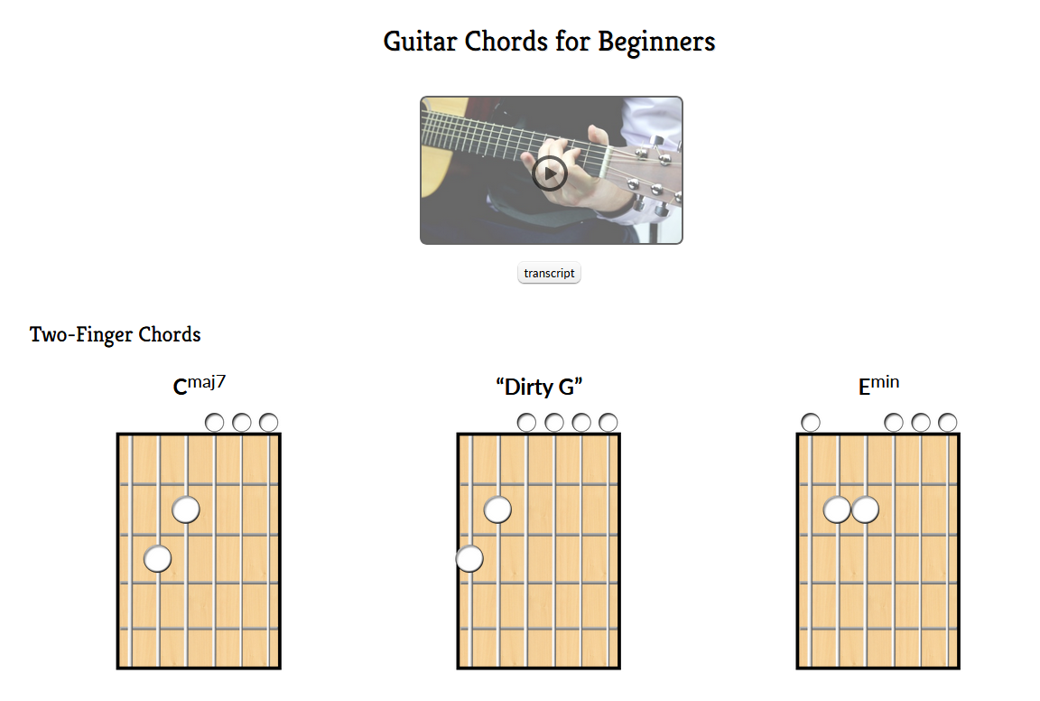 Video Lesson From Hub Guitar