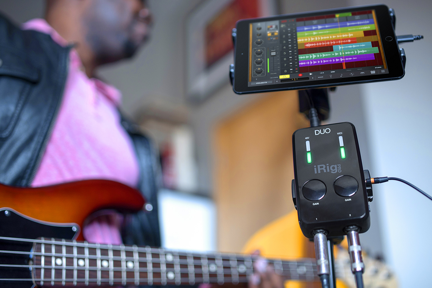 iRig Pro Duo Connected to an iPad